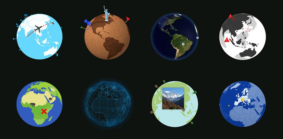 Miniature Earth | 3D Globe for JavaScript - 1